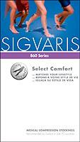Sigvaris (SG) Select comfort 20-30mm, calf, unisex, open toe, crispa, sold by each pair